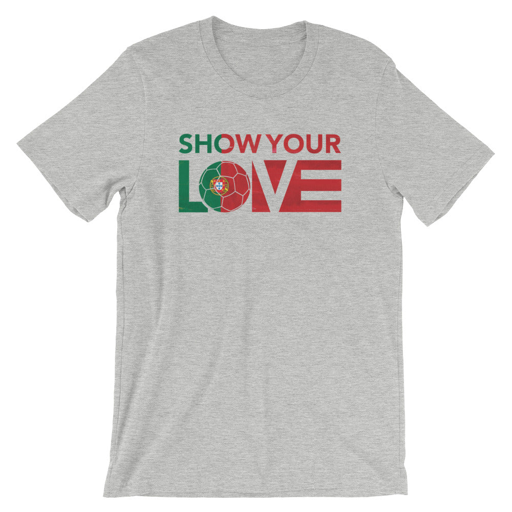 Athletic Show Your Love Portugal Unisex Tee