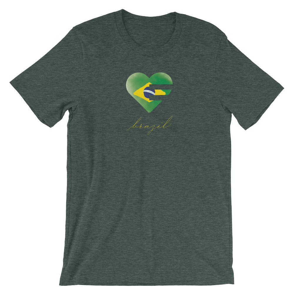 Heather Forest Brazil Solo Heart Unisex Tee