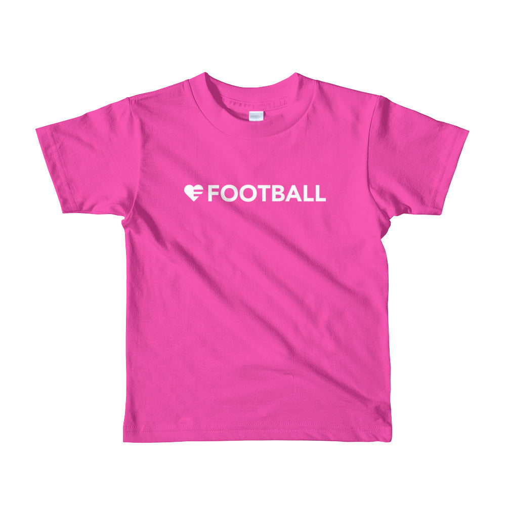 Fuchsia Heart=Football Kids Tee