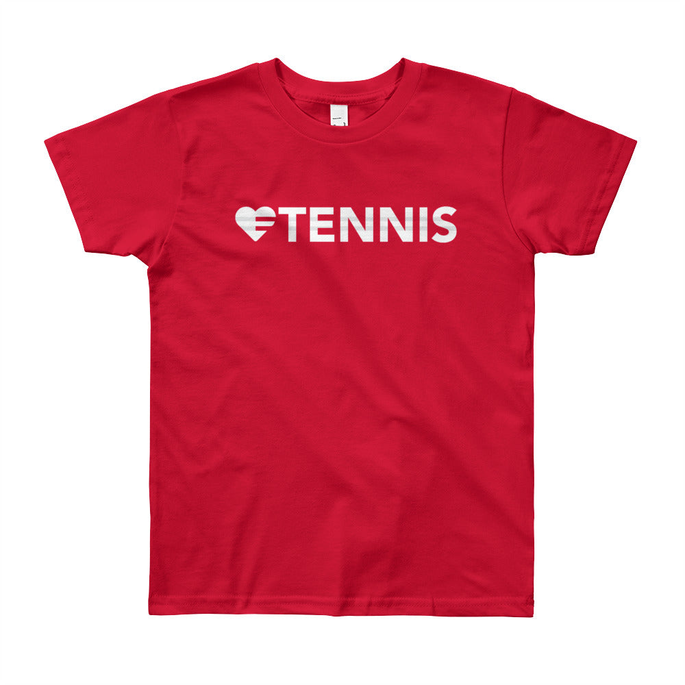 Red Heart=Tennis Youth Tee