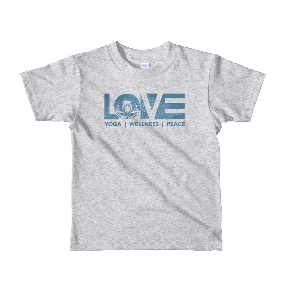 Heather Grey LOV=Yoga Kids Tee