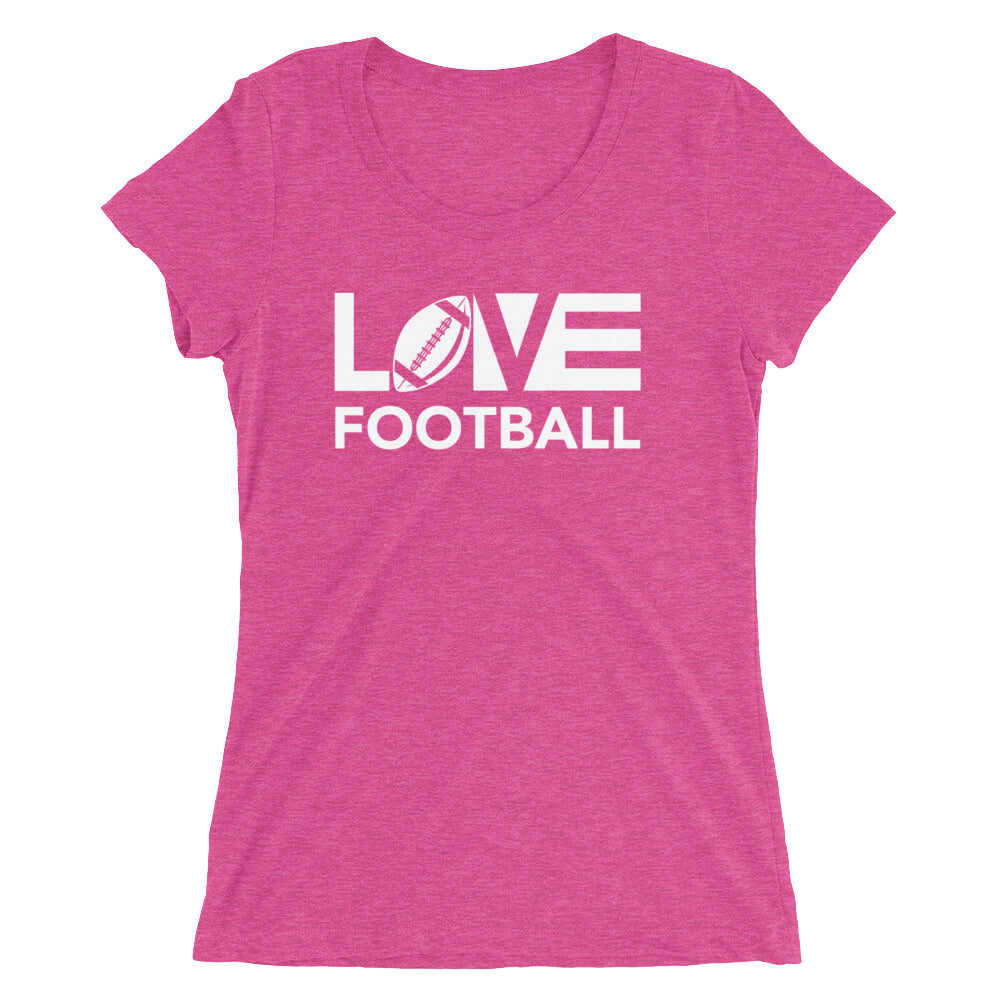 Berry LOV=Football Ultra Slim Fit Triblend Tee