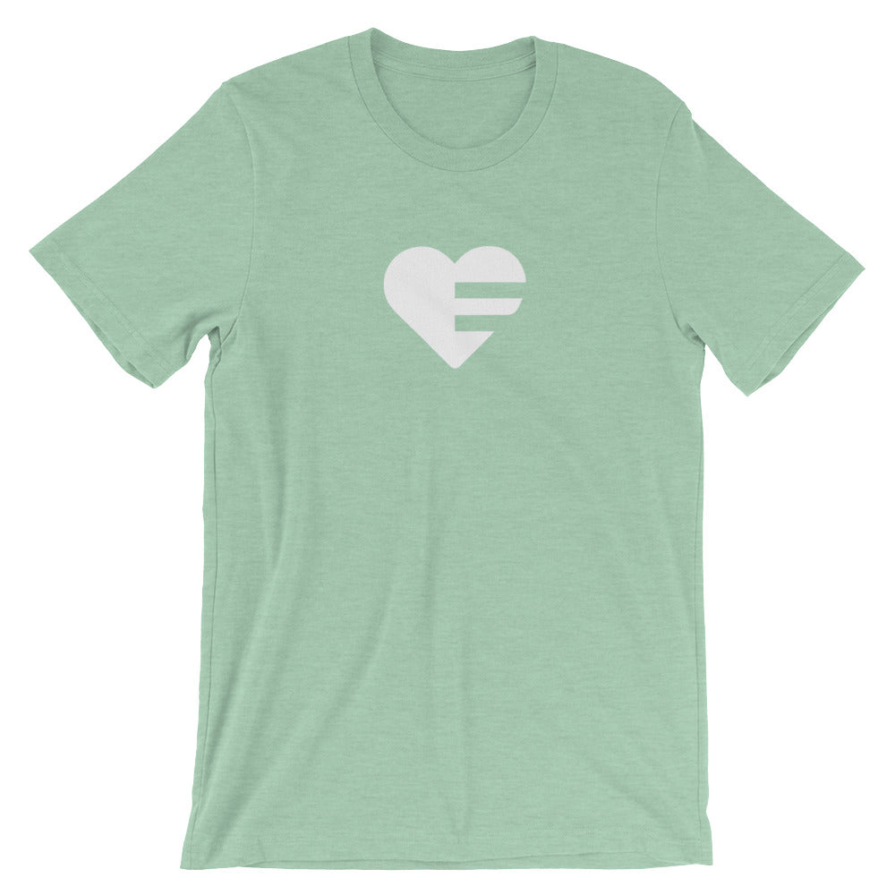 Heather Prism Mint Solo Heart Unisex Tee