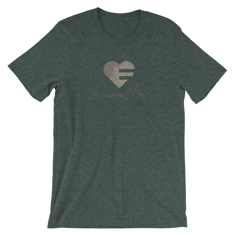 Heather Forest Heart Namaste Unisex Tee