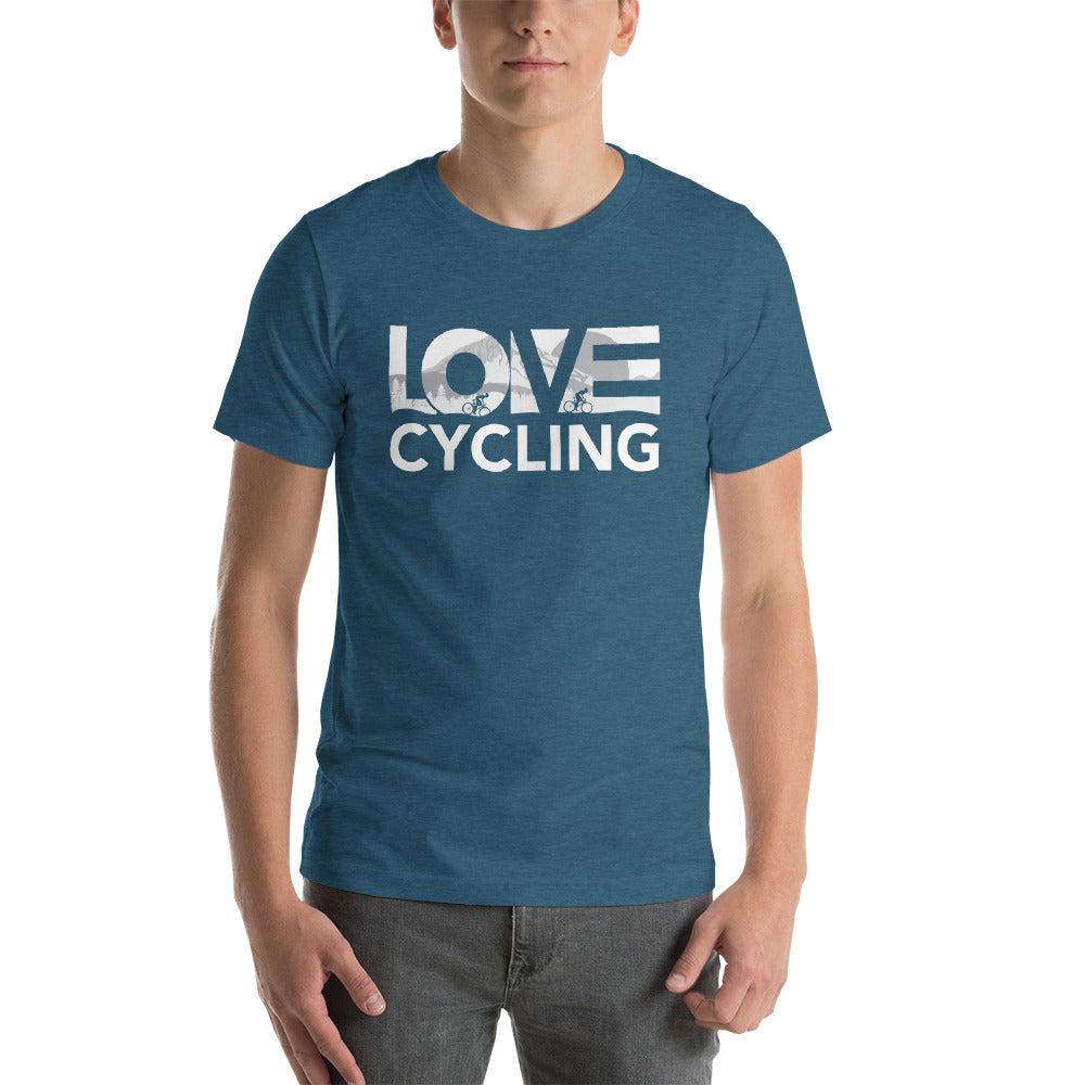 Deep teal LOV=Cycling Unisex Tee