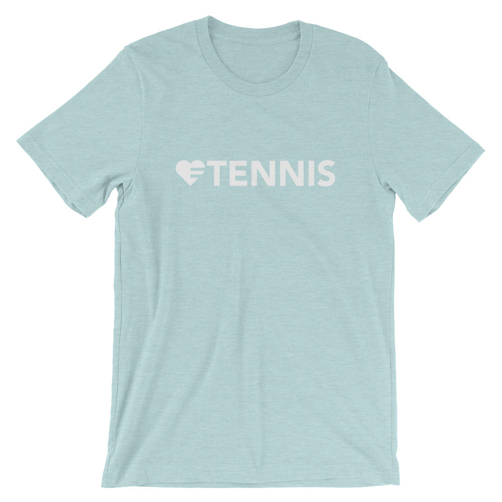 Prism ice blue Heart=Tennis Unisex Tee