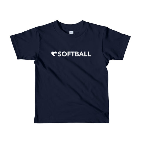 Heart=Softball Kids Tee (2yrs-6yrs)