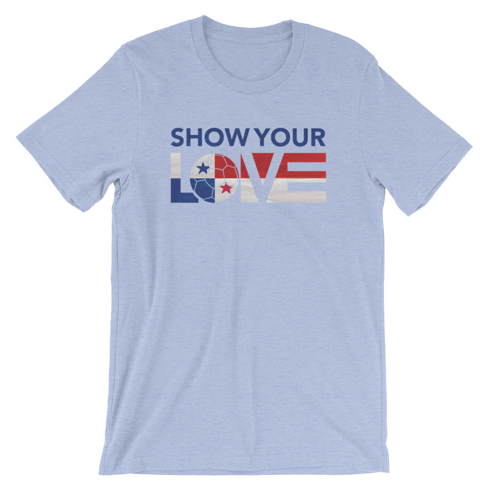 Heather Blue Show Your Love Panama Unisex Tee