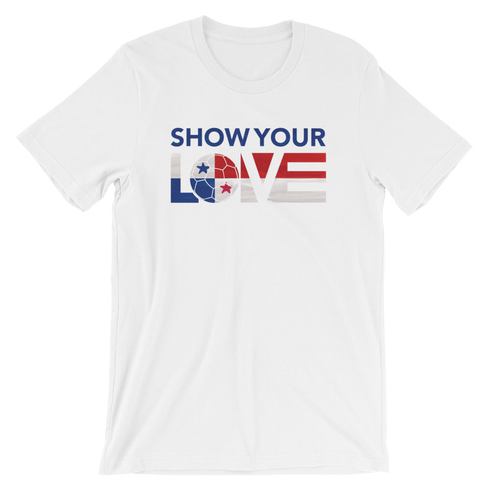 White Show Your Love Panama Unisex Tee