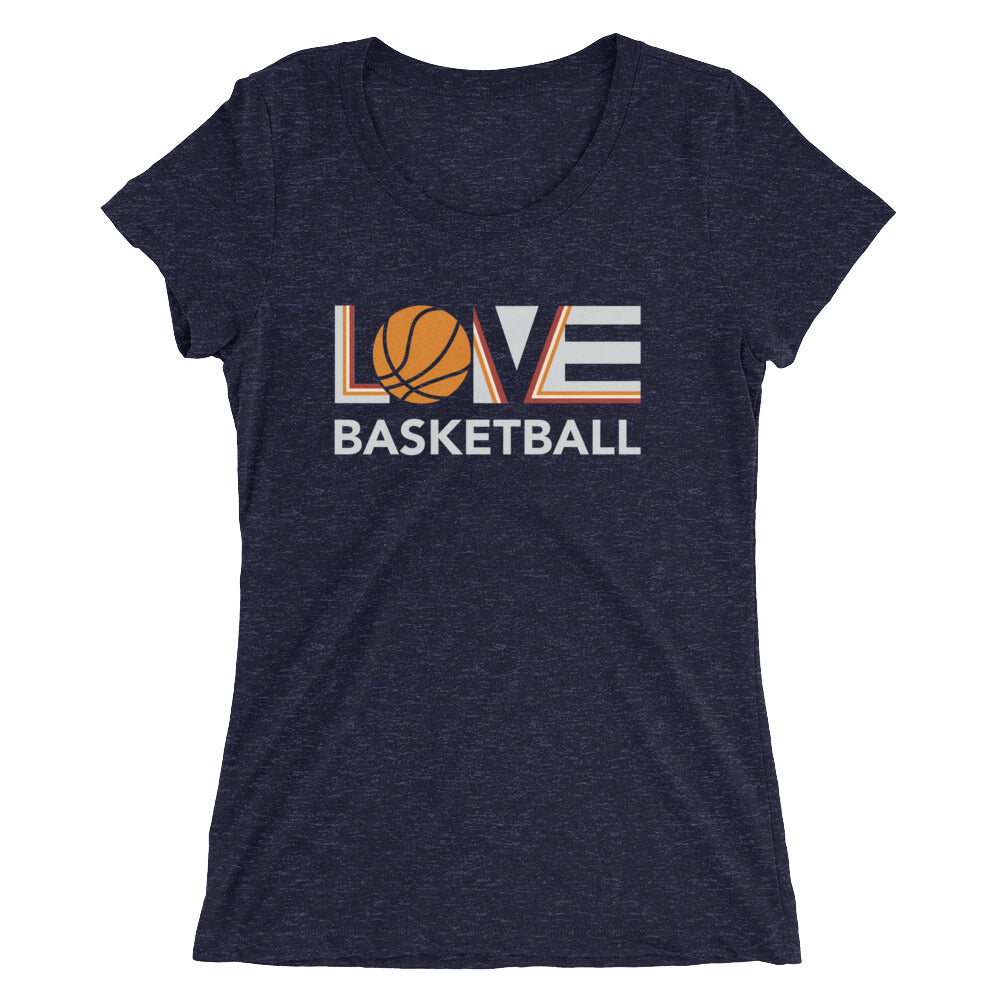 Navy LOV=Basketball Ultra Slim Fit Triblend Tee