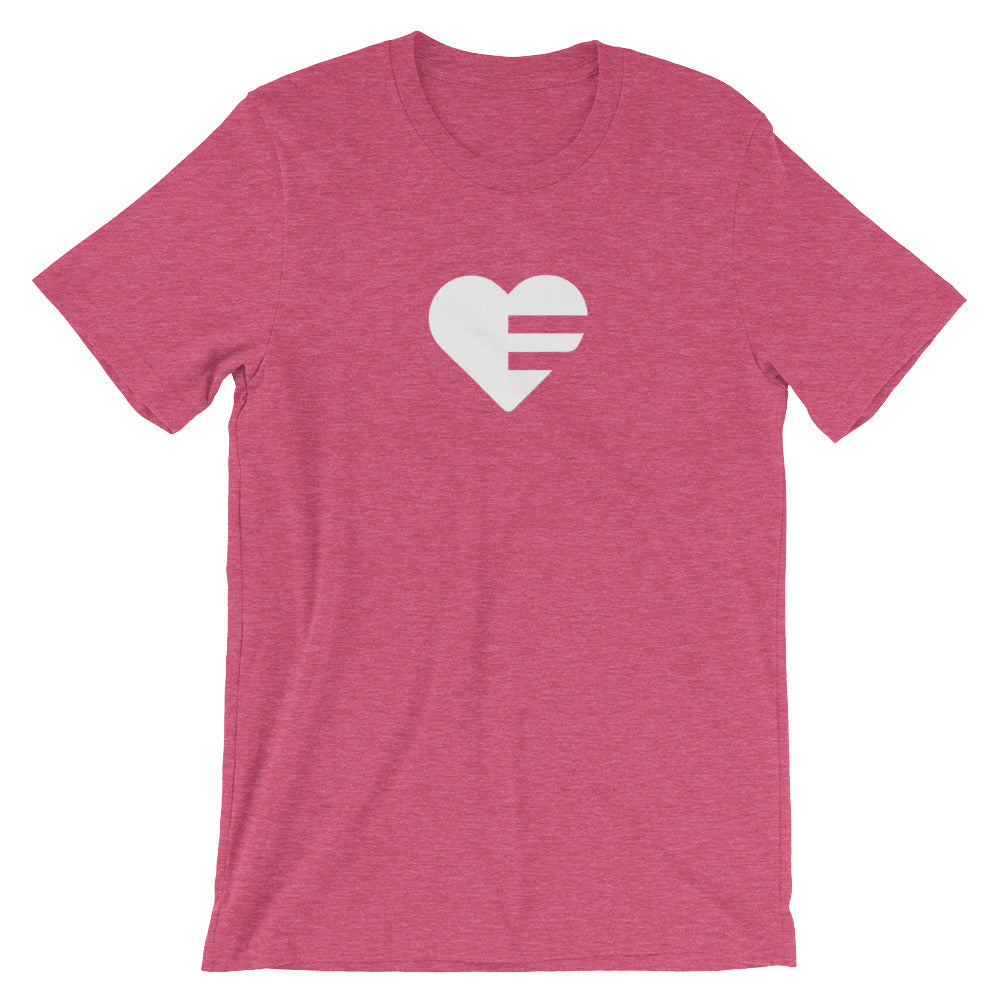 Heather Raspberry Solo Heart Unisex Tee