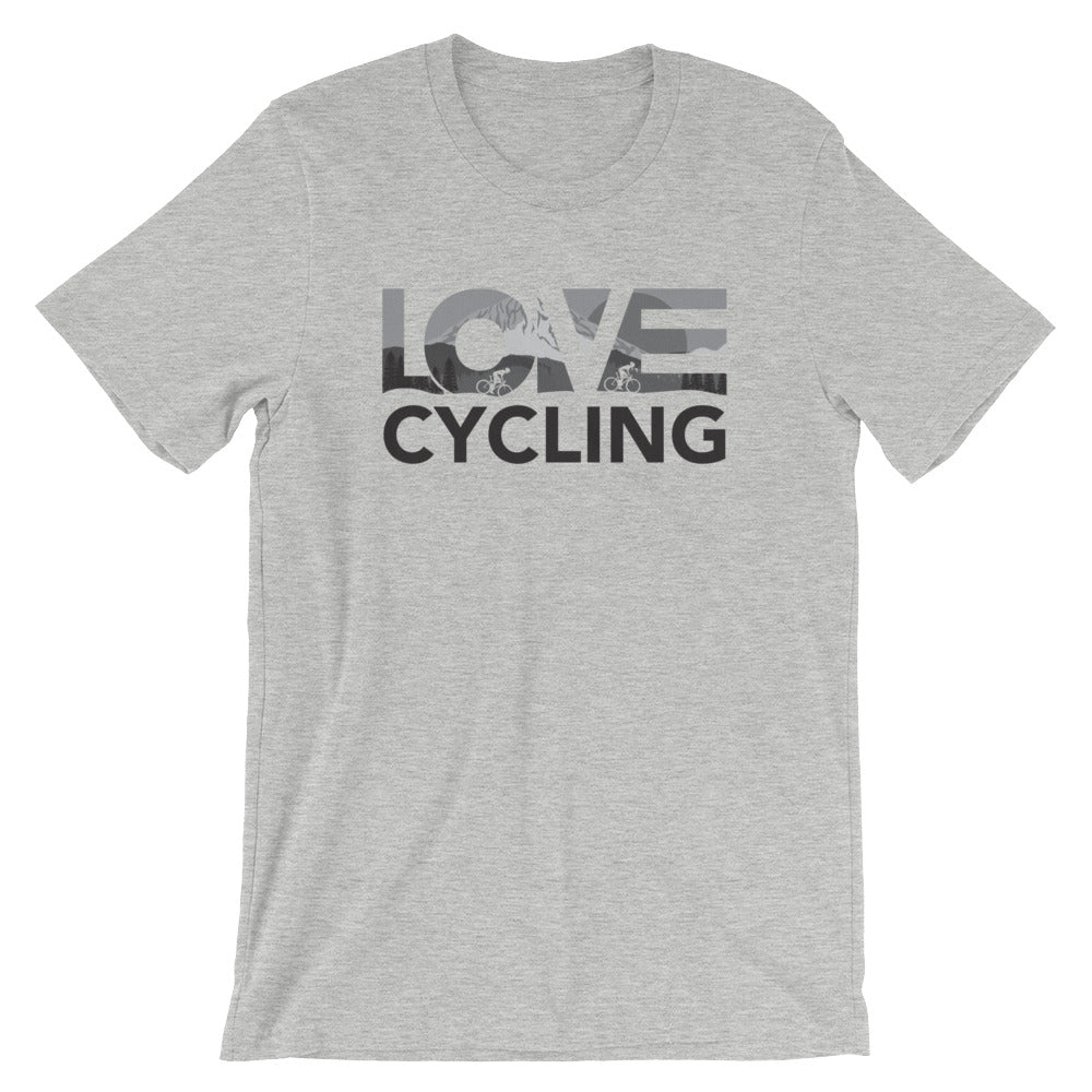 Heather grey LOV=Cycling Unisex Tee