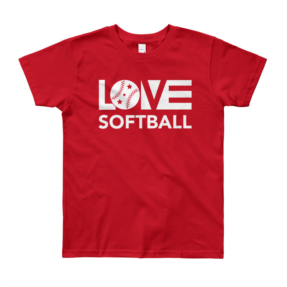 Red LOV=Softball Unisex Tee