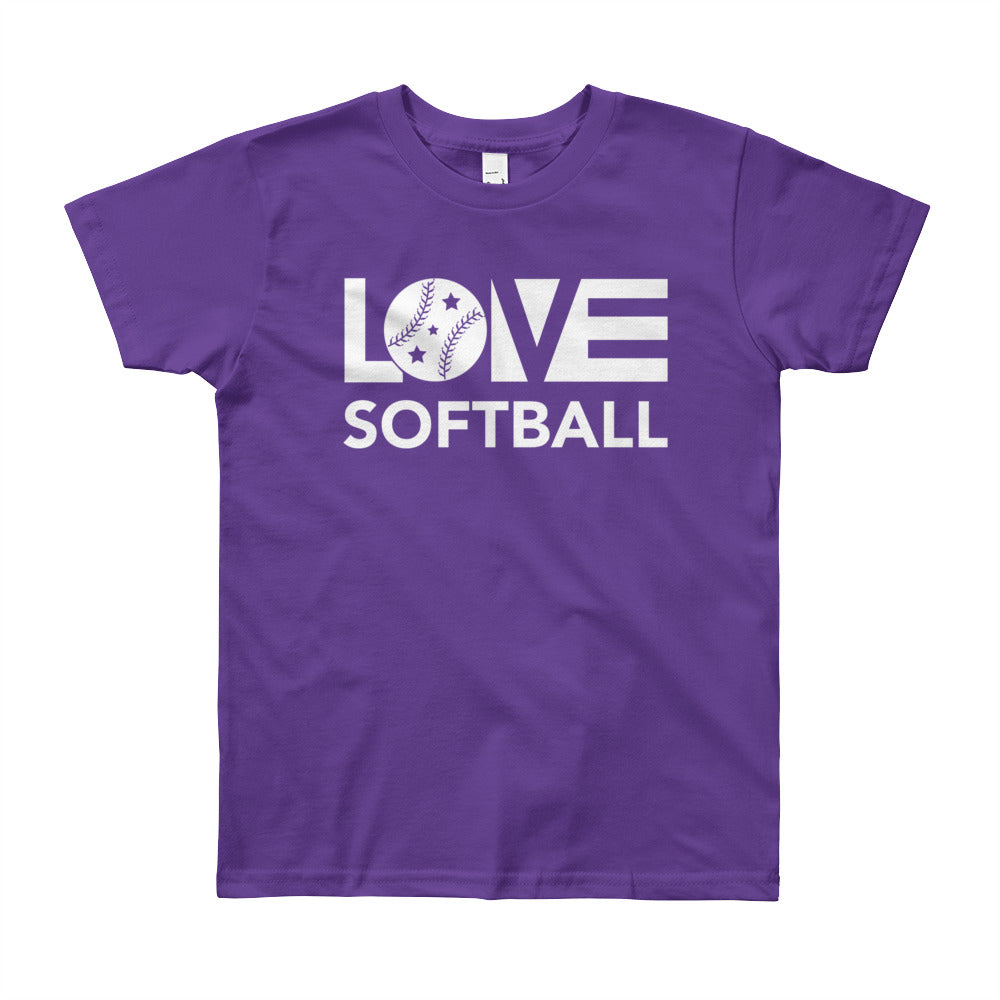 Purple LOV=Softball Unisex Tee