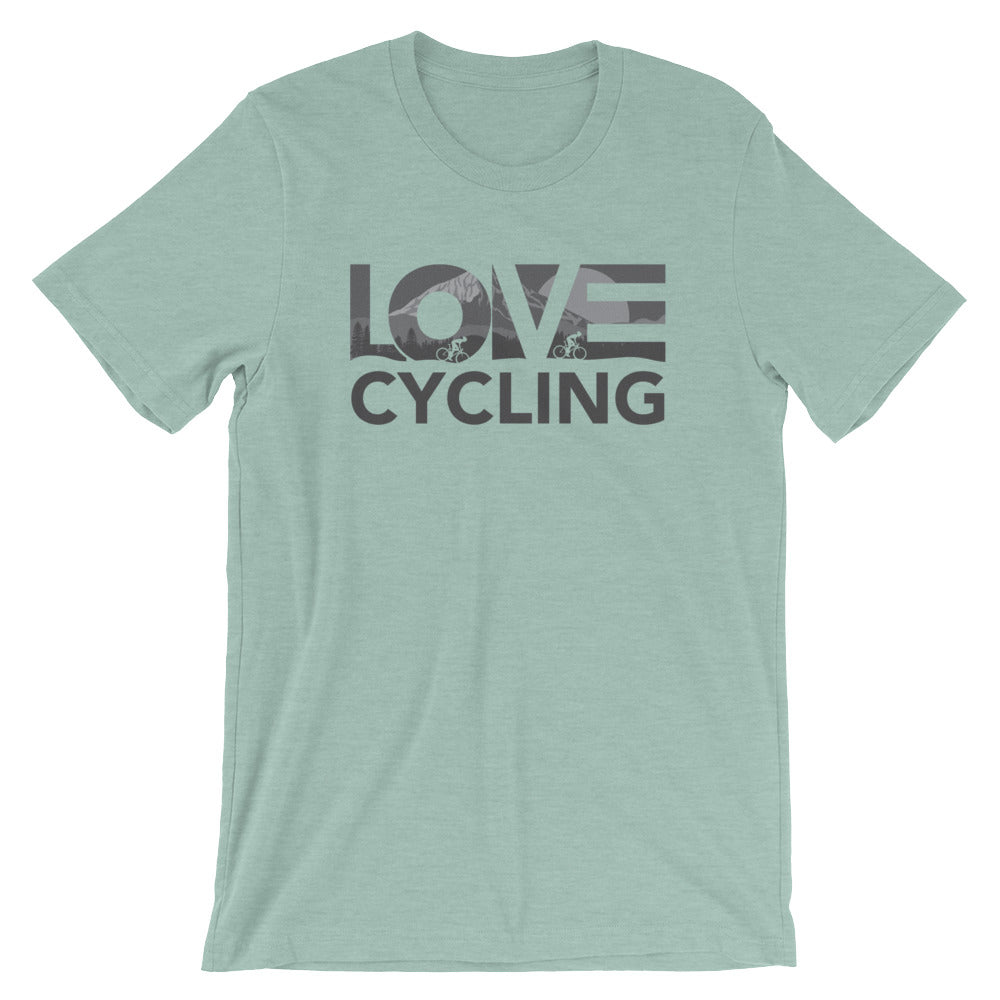 Dusty blue LOV=Cycling Unisex Tee