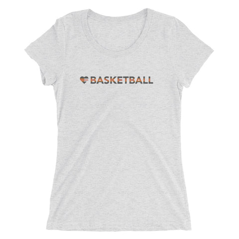 Heart=Basketball Ultra Slim Fit Triblend Tee