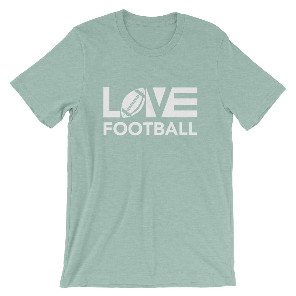 Dusty blue LOV=Football Unisex Tee