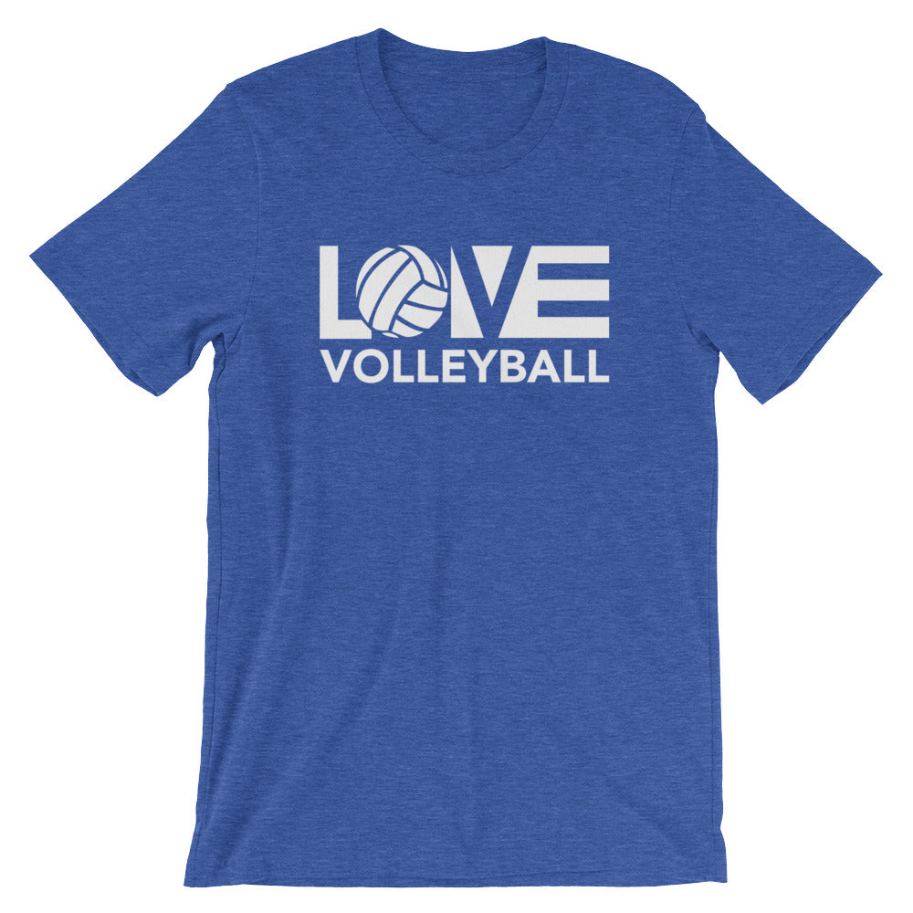 True Royal LOV=Volleyball Unisex Tee