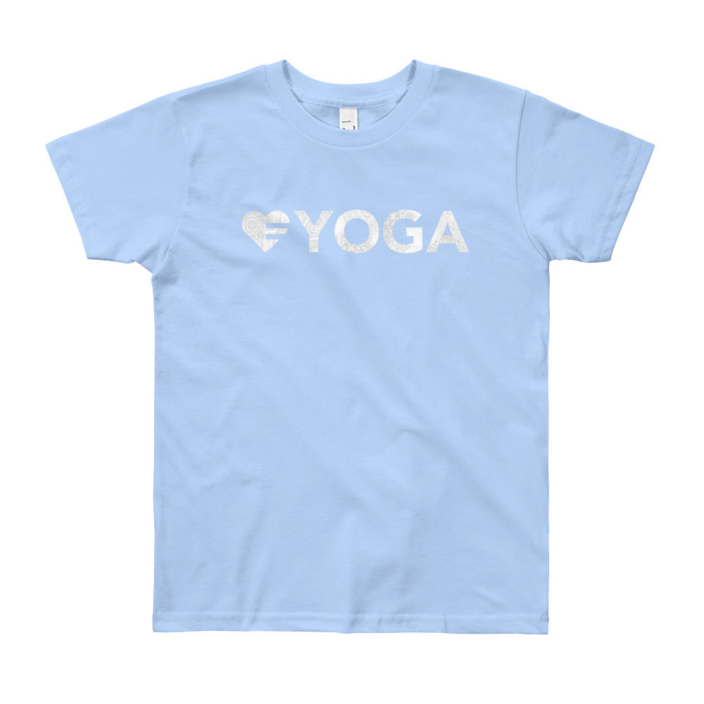 Baby blue Heart=Yoga Youth Tee