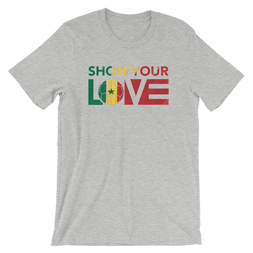 Athletic Heather Show Your Love Senegal Unisex Tee