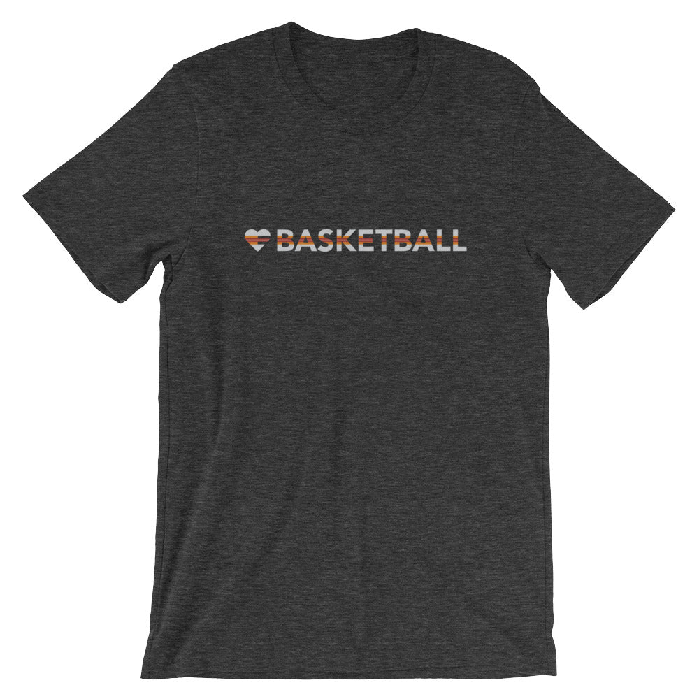 Dark Grey Heart=Basketball Unisex Tee