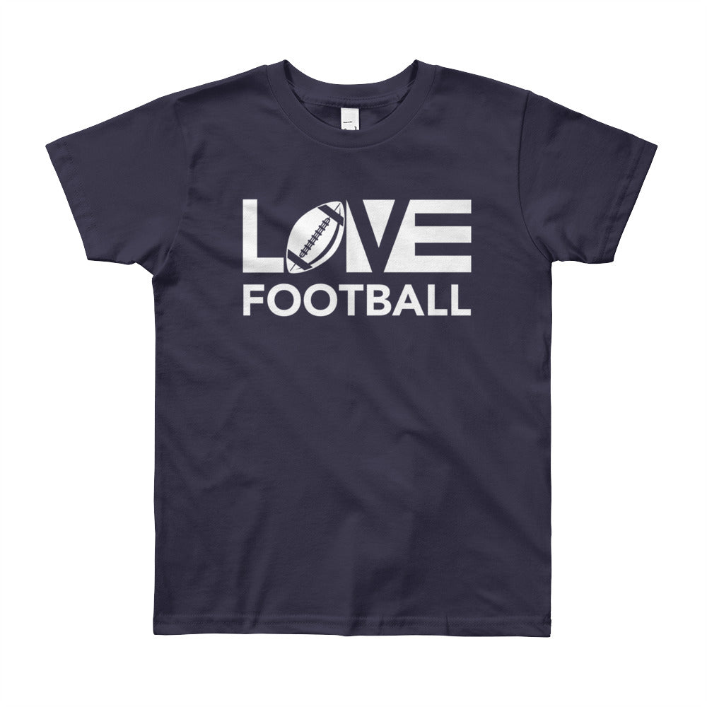 Navy LOV=Football Youth Tee
