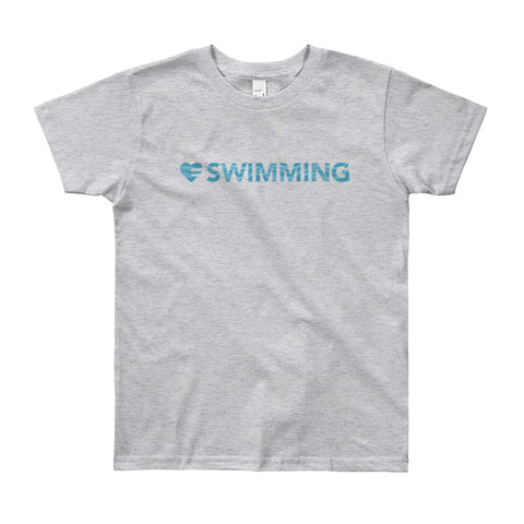 Heart=Swimming Youth Tee (8yrs-12yrs)