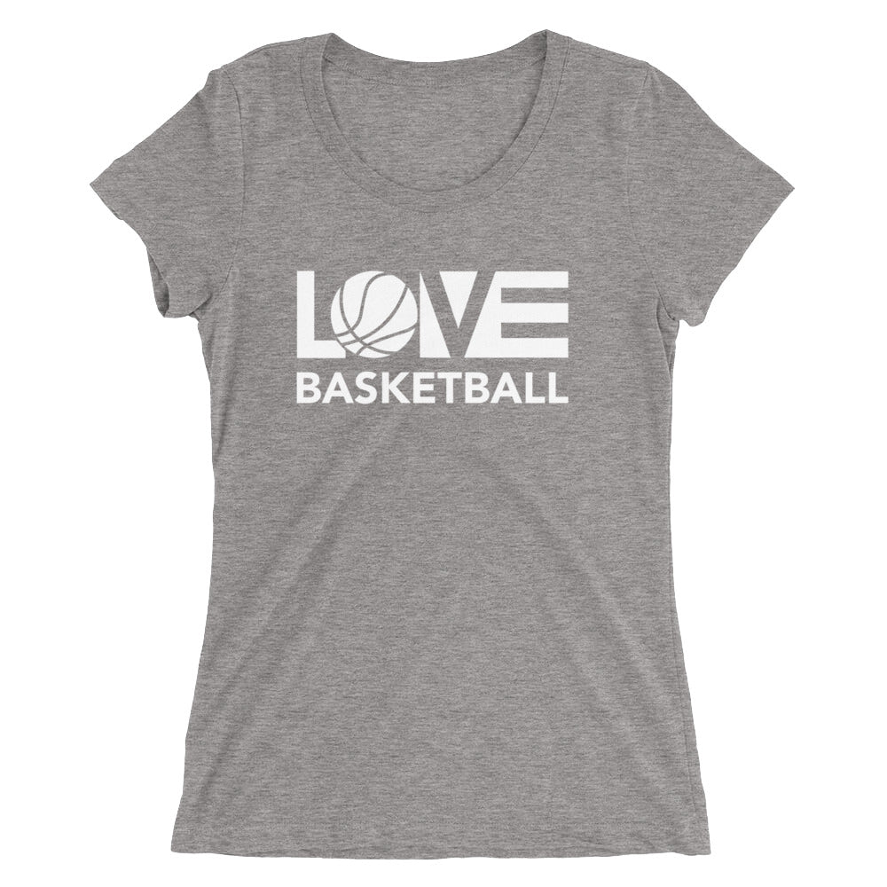 Grey LOV=Basketball Ultra Slim Fit Triblend Tee