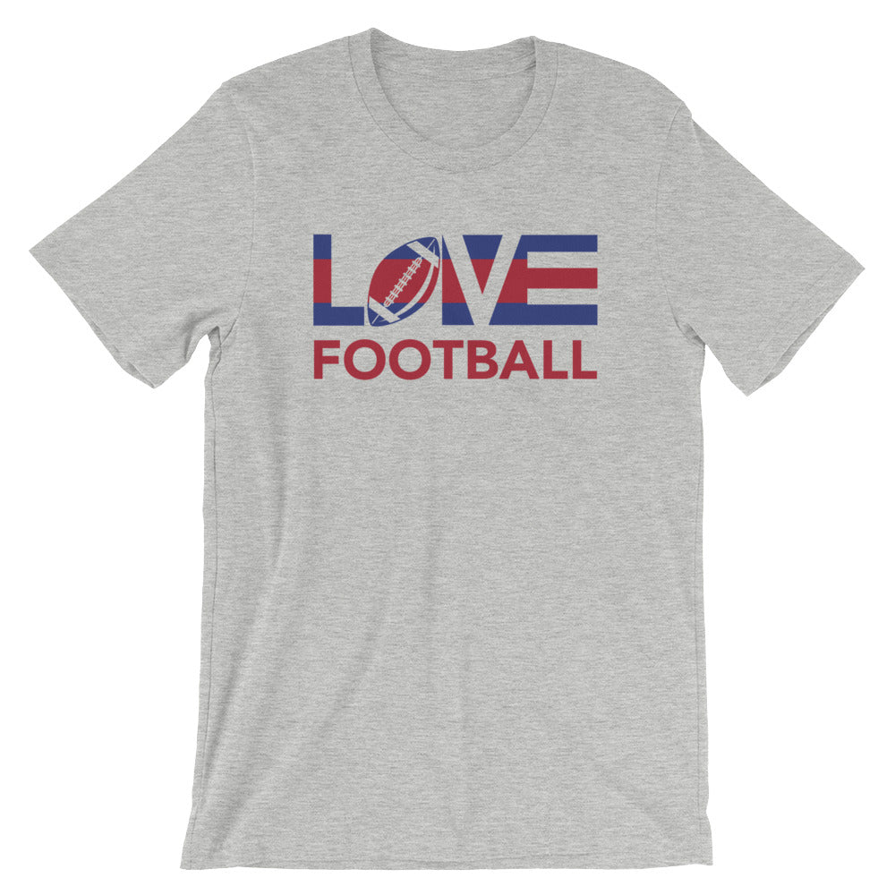 Athletic heather LOV=Football Unisex Tee