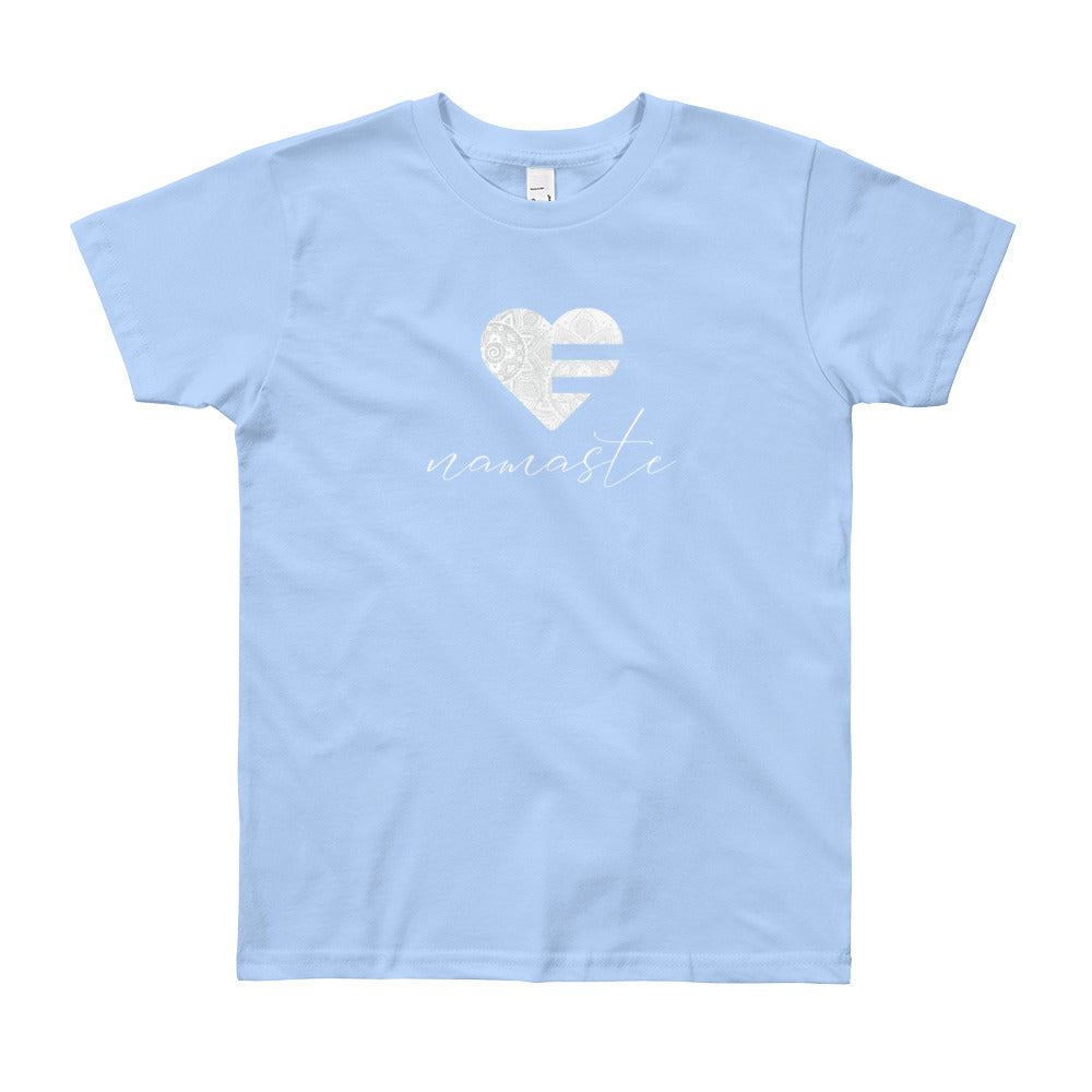 Baby Blue Heart Namaste Youth Tee