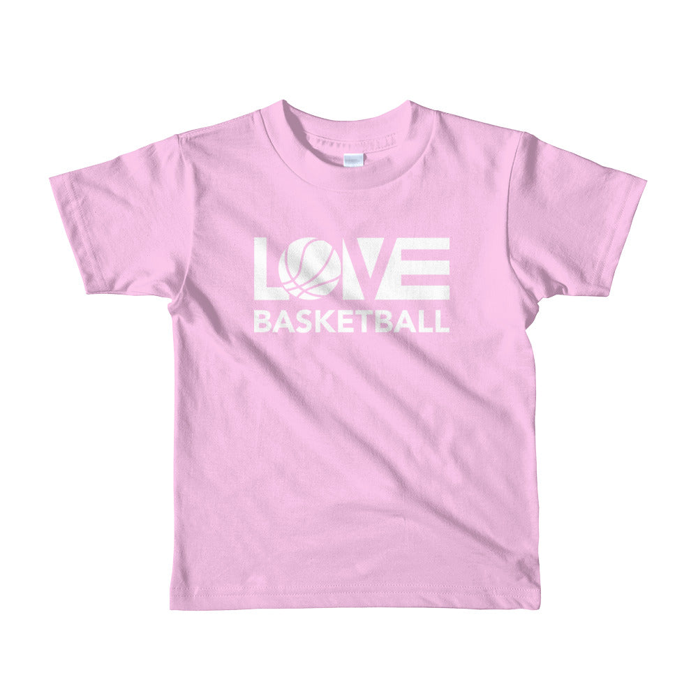 Pink LOV=Basketball Kids Tee