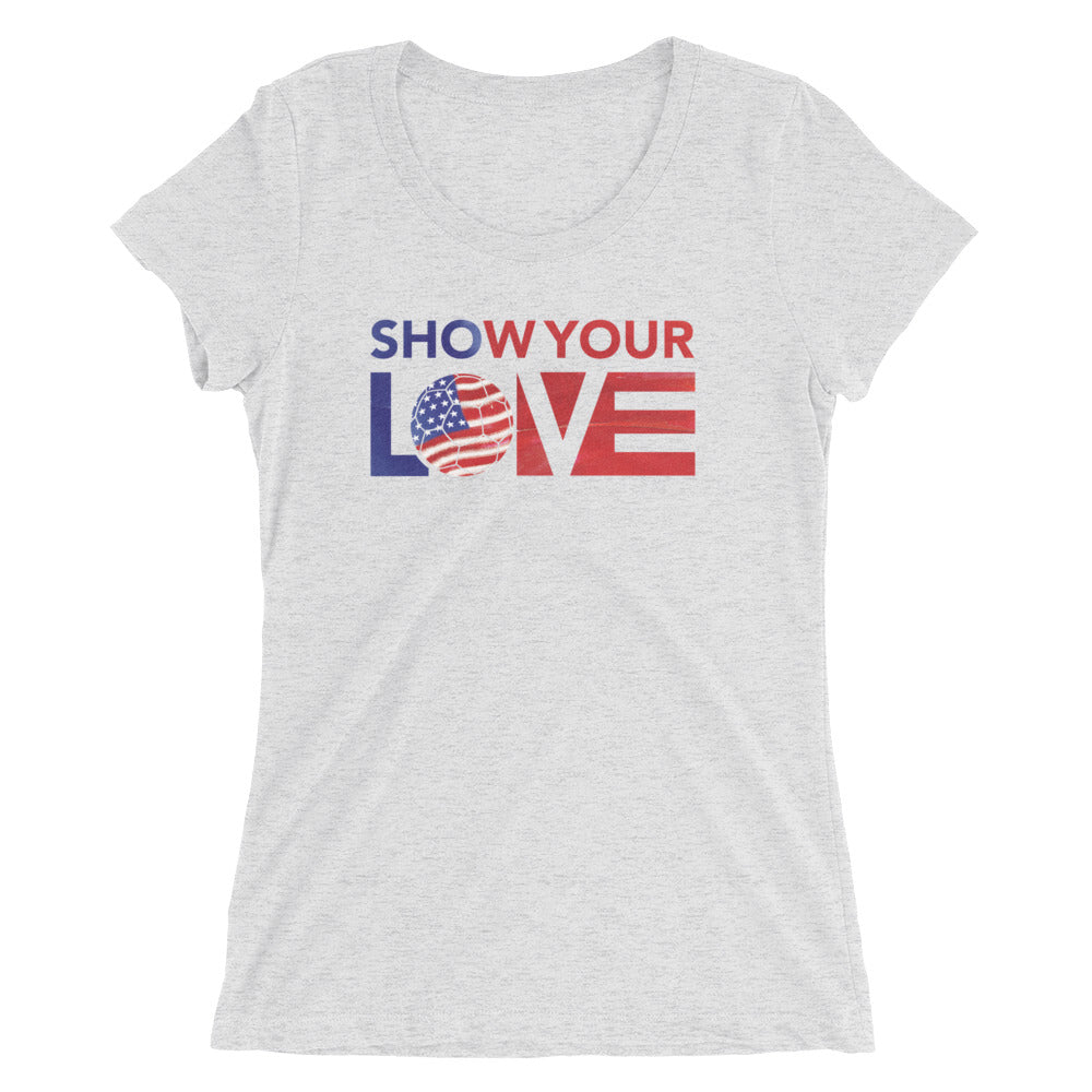 White Show Your Love USA Ultra Slim Fit Tee