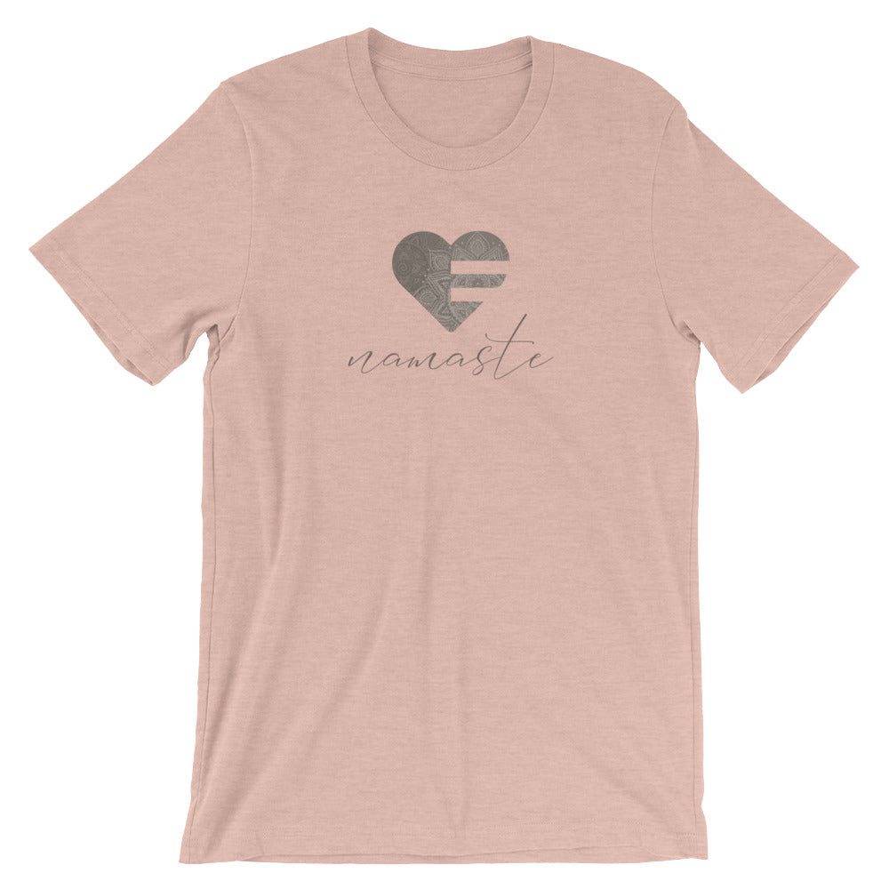Heather Prism Peach Heart Namaste Unisex Tee