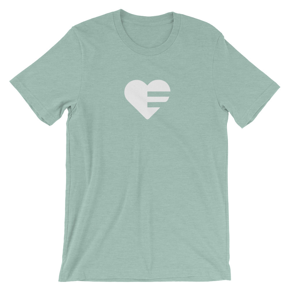 Heather Prism Dusty Blue Solo Heart Unisex Tee