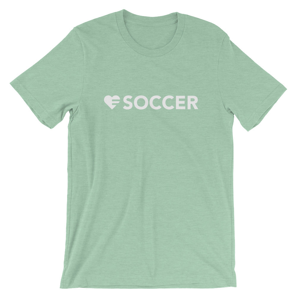 Prism Mint Heart=Soccer Unisex Tee