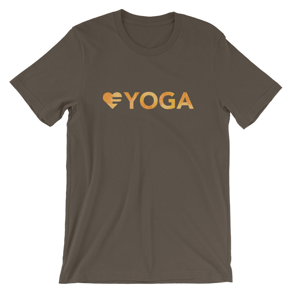 Army Heart=Yoga Unisex Tee