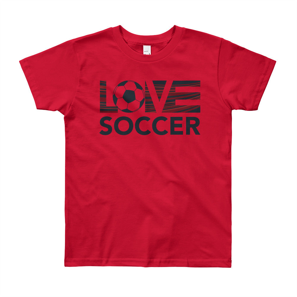 Red LOV=Soccer Youth Tee