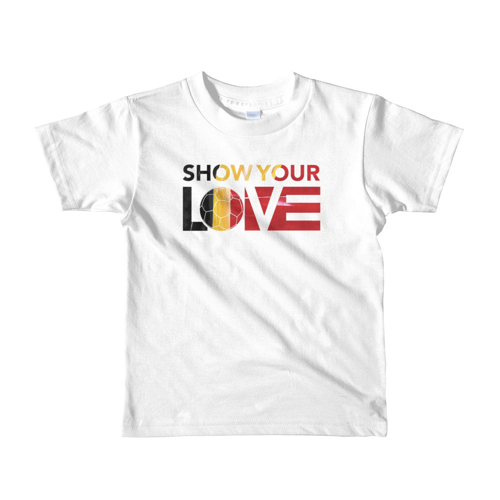 White Show Your Love Belgium Kid's Tee