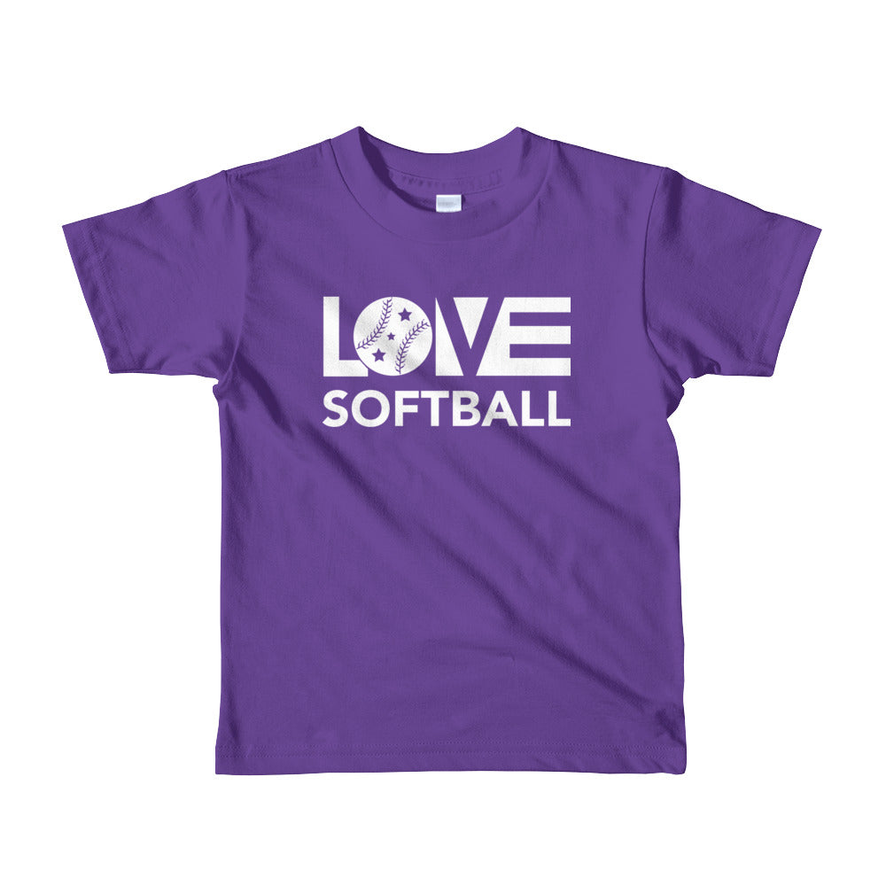 Purple LOV=Softball Kid Tee