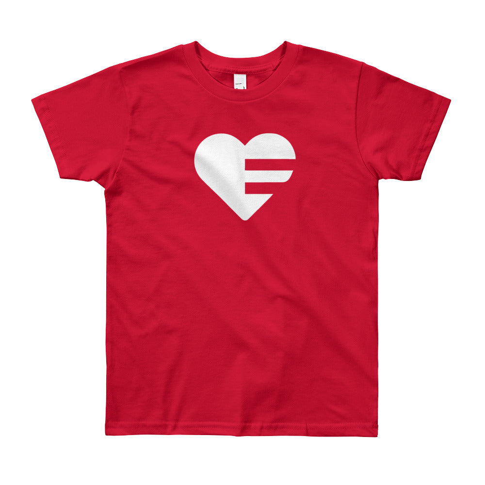 Red Solo Heart Youth Tee