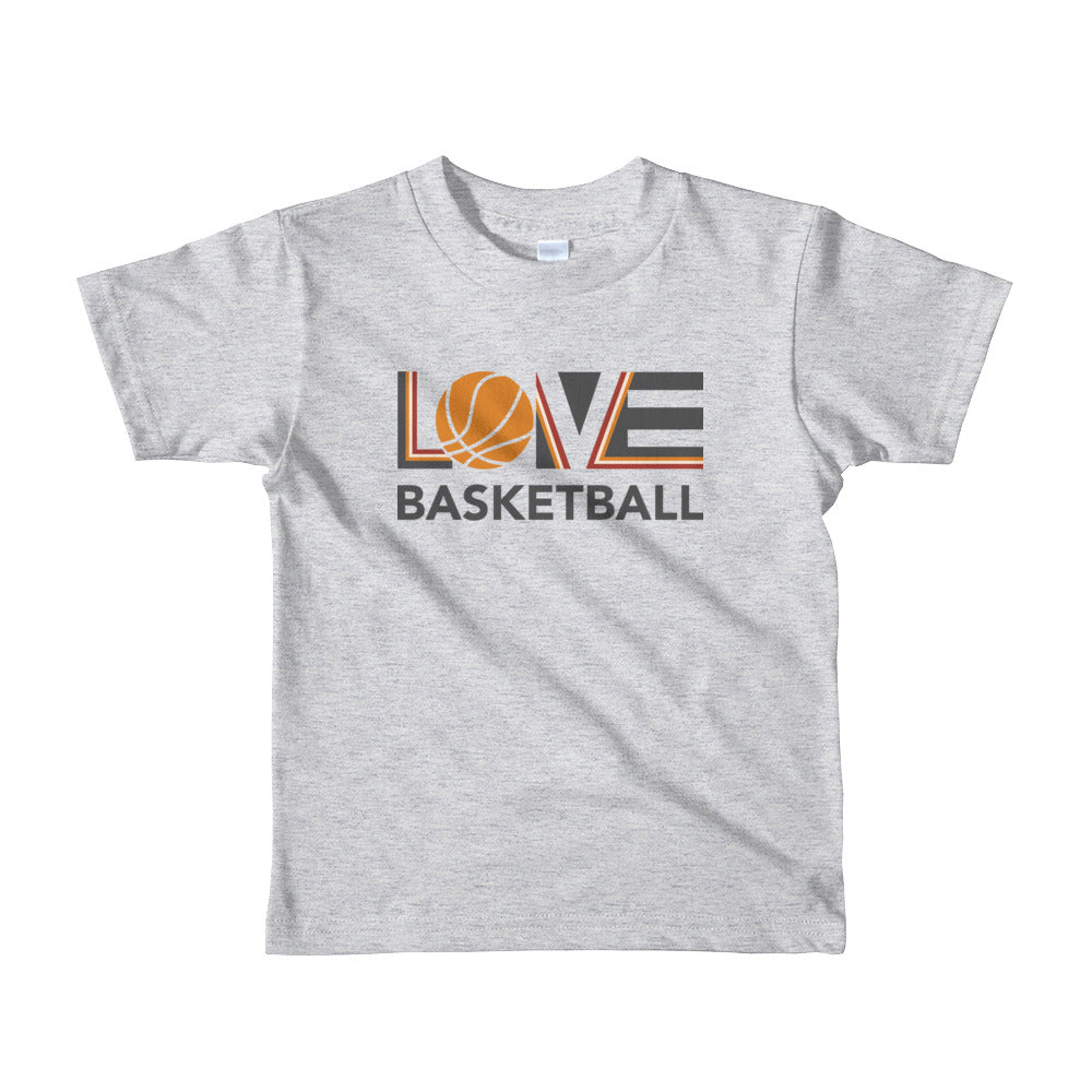 Heather grey LOV=Basketball Kids Tee