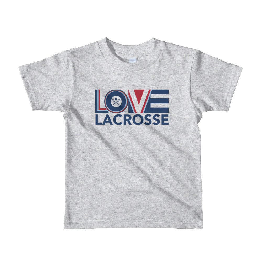Heather grey LOV=Lacrosse Kids Tee