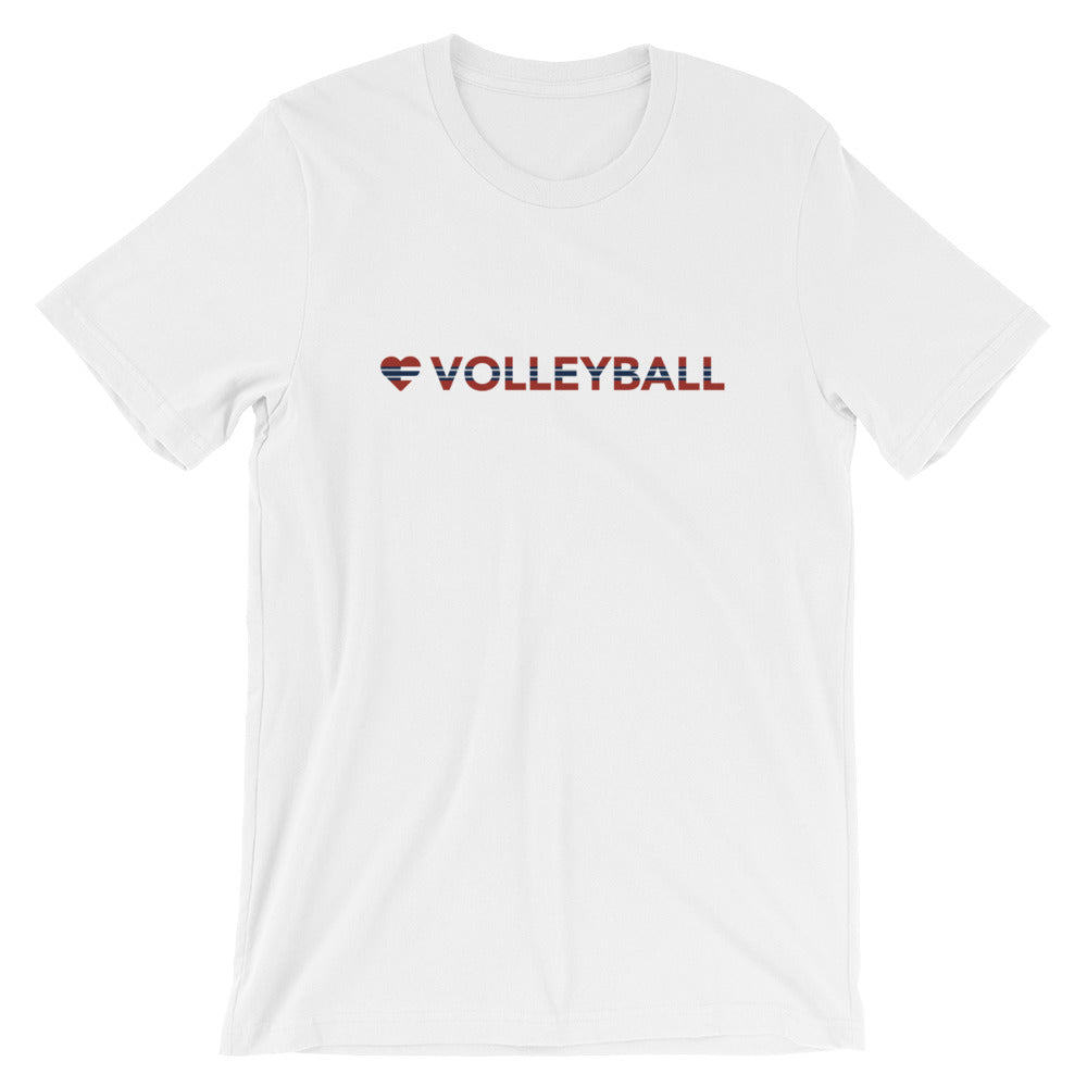 Ash Heart=Volleyball Unisex Tee