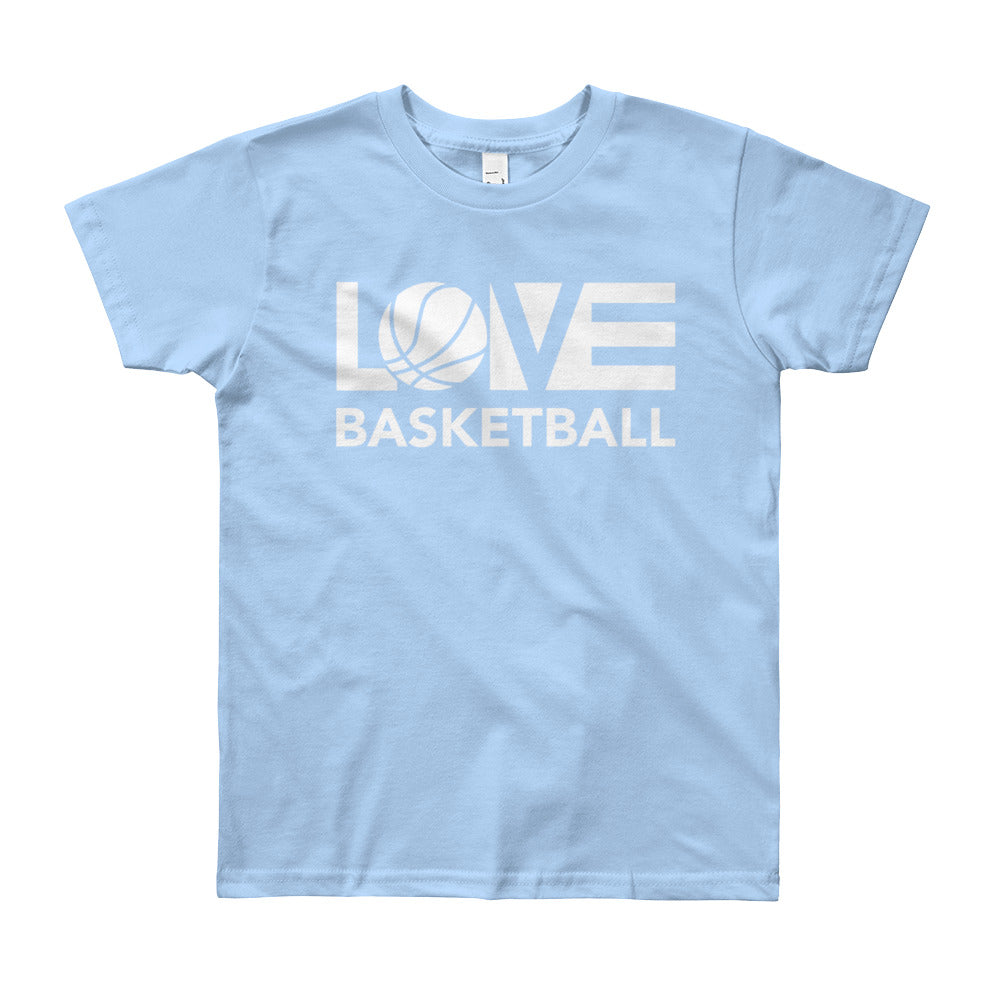 Baby blue LOV=Basketball Youth Tee