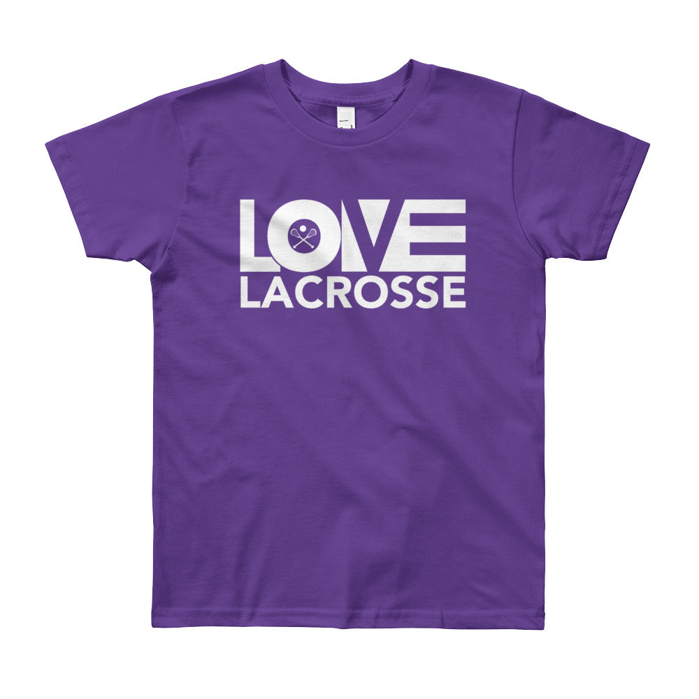 Purple LOV=Lacrosse Youth Tee