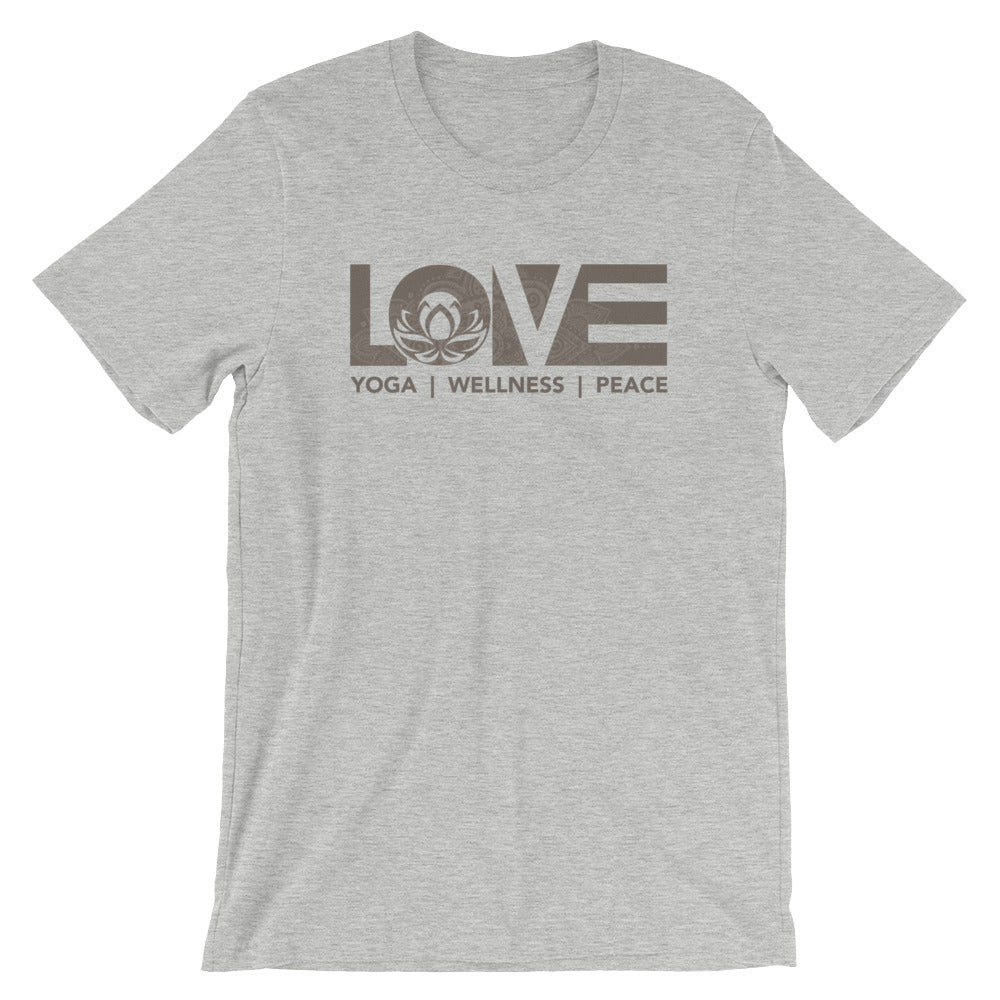Athletic Heather LOV=Yoga Unisex Tee