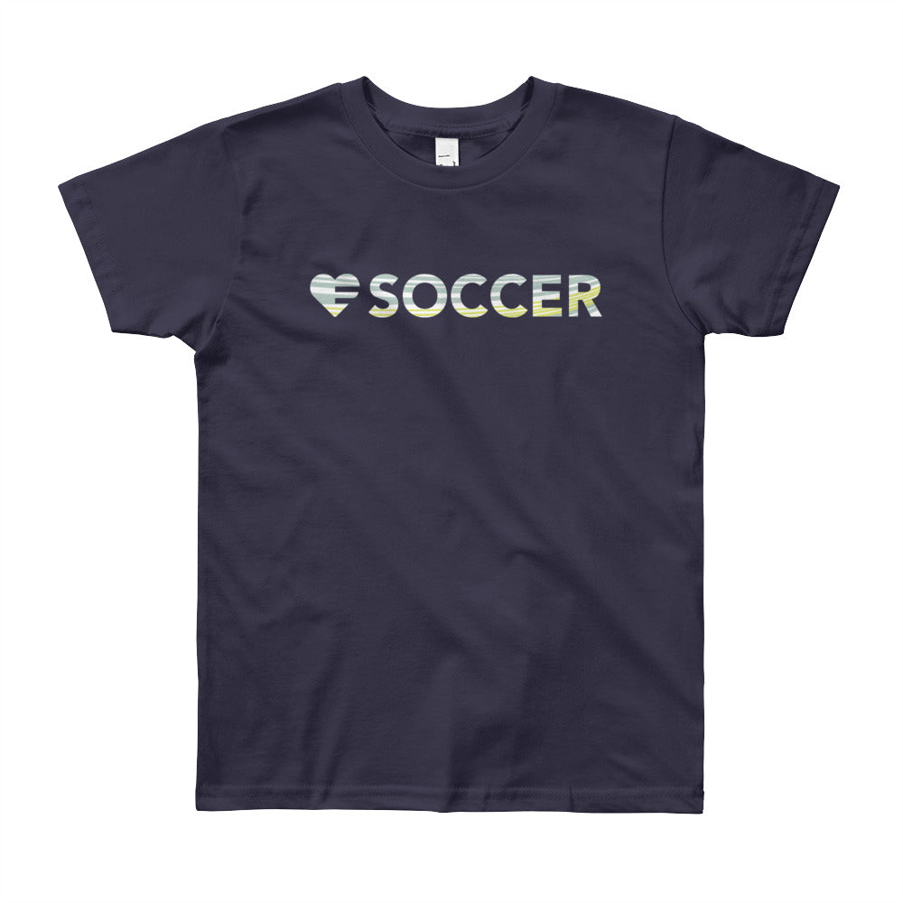 Black Heart=Soccer Youth Tee