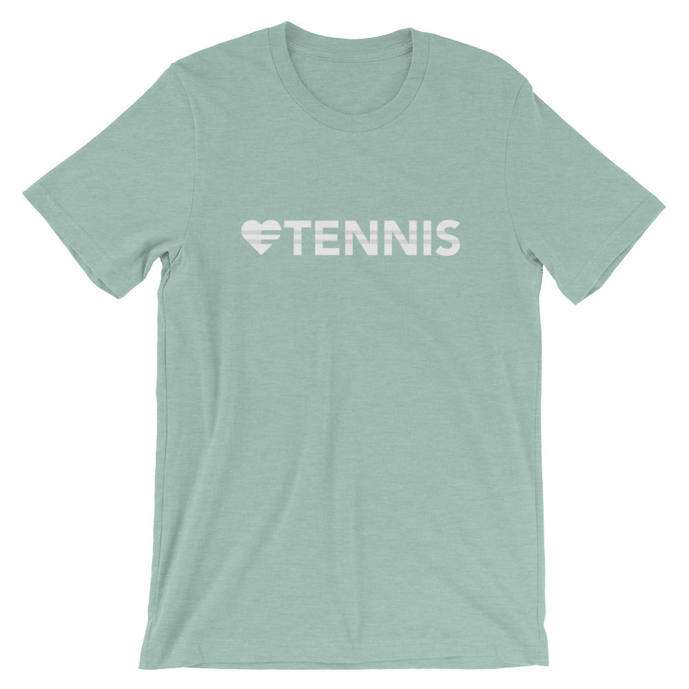 Prism dusty blue Heart=Tennis Unisex Tee