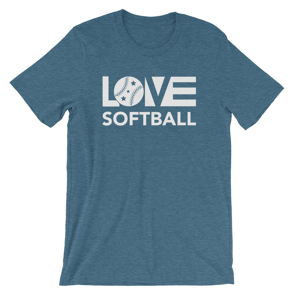 Deep teal LOV=Softball Unisex Tee