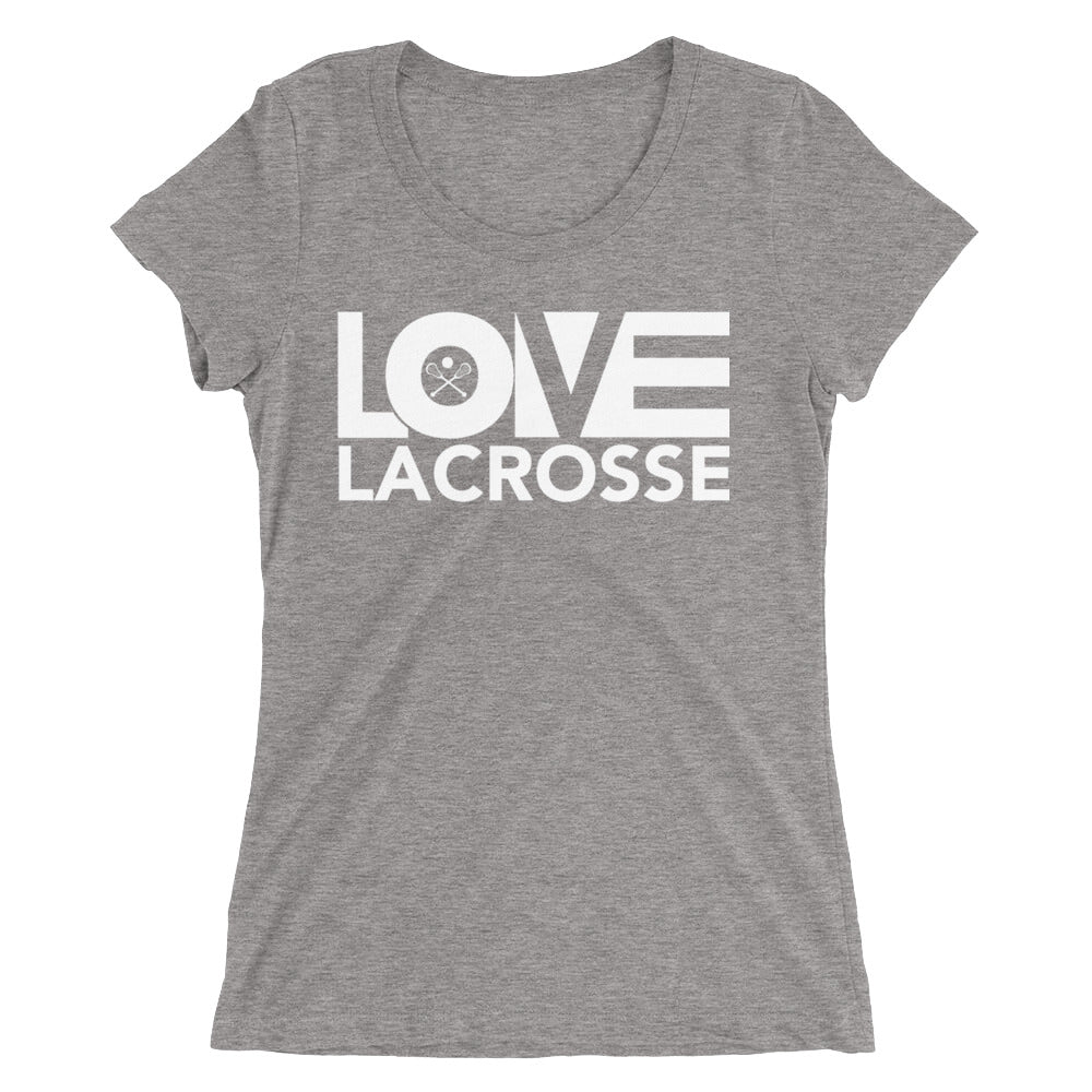 Grey LOV=Lacrosse Ultra Slim Fit Triblend Tee